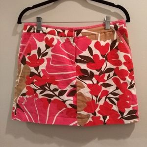 J.CREW 100% COTTON ORANGE FLORAL MINI SKIRT - Sz 4